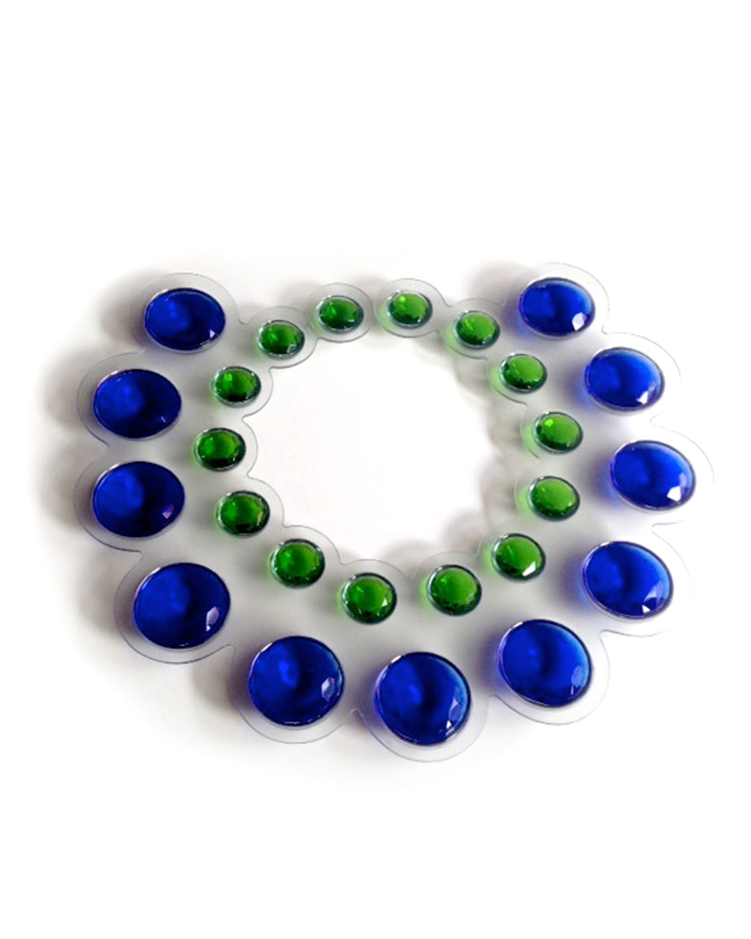 Herman Hermsen, Kraag (Collar), 1989, necklace; PVC, glass, 310 x 330 x 45 mm, €1600
