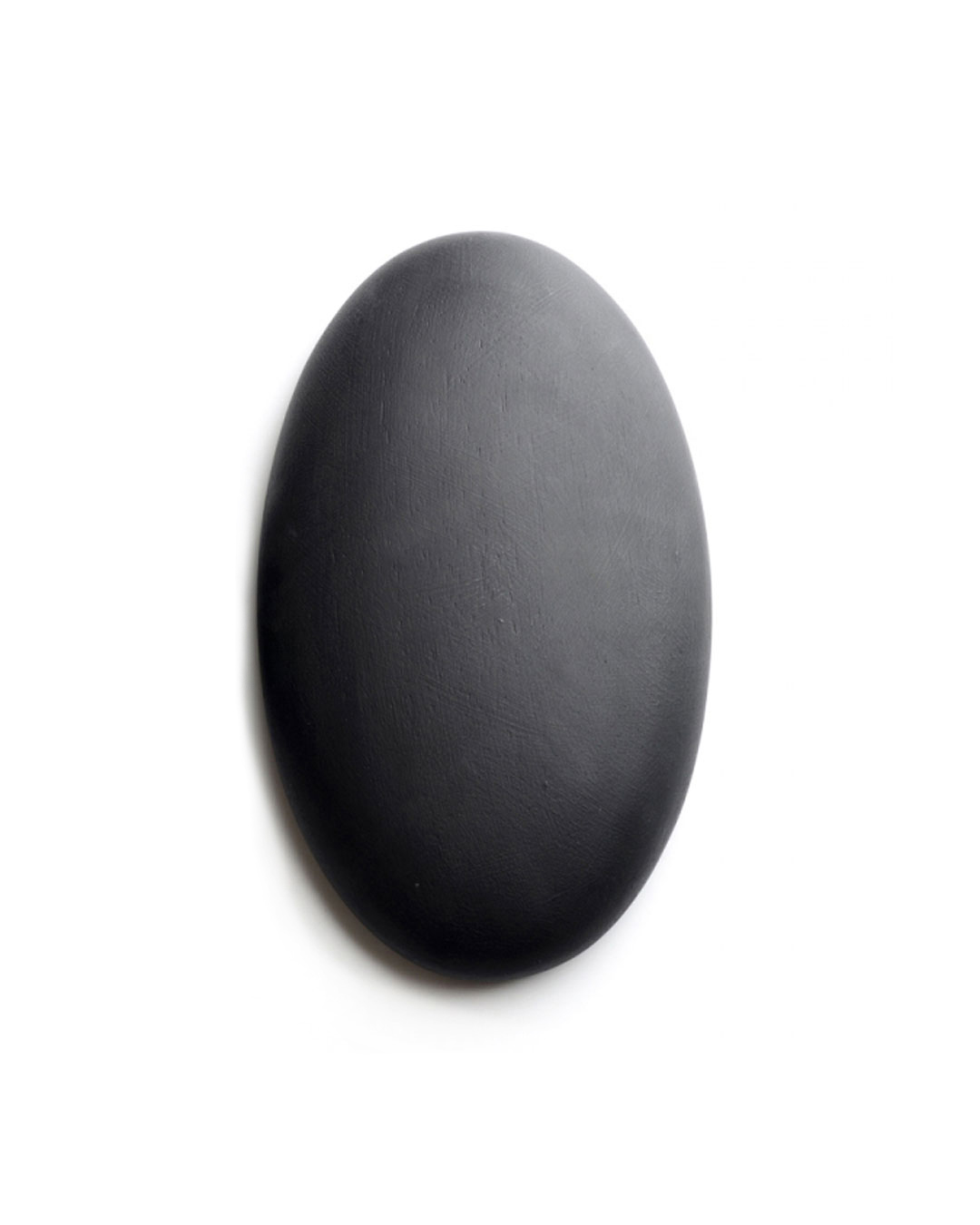 David Huycke, Black Oval Mercury, 2012, object; wenge, paint, 158 x 263 x 48 mm, €1100