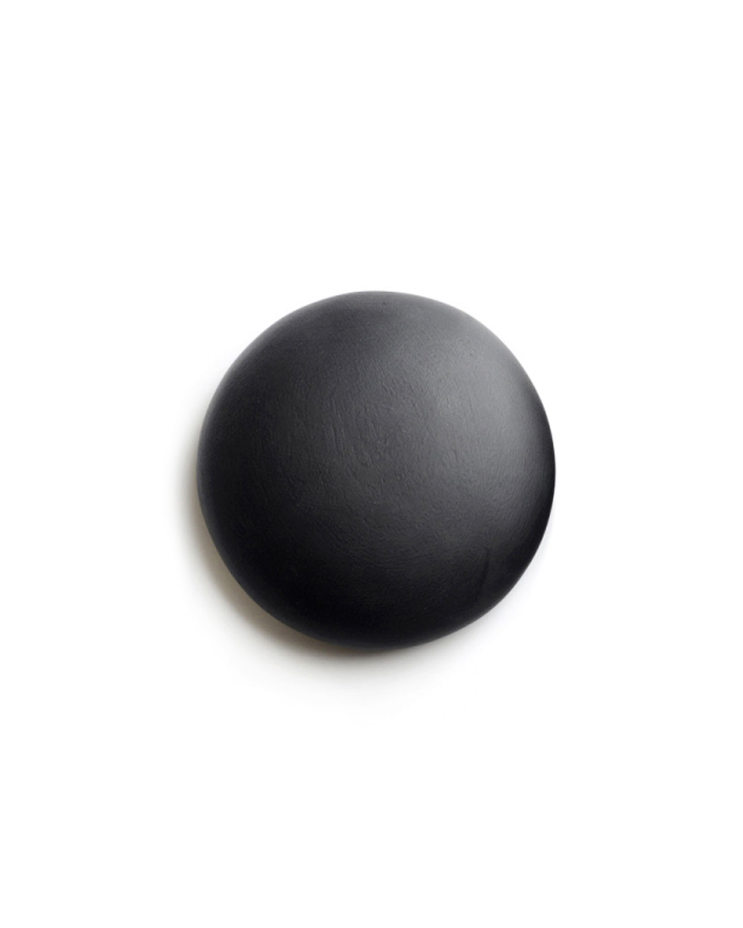 David Huycke, Black Round Mercury, 2012, object; wenge, paint, 155 x 155 x 50 mm, €630