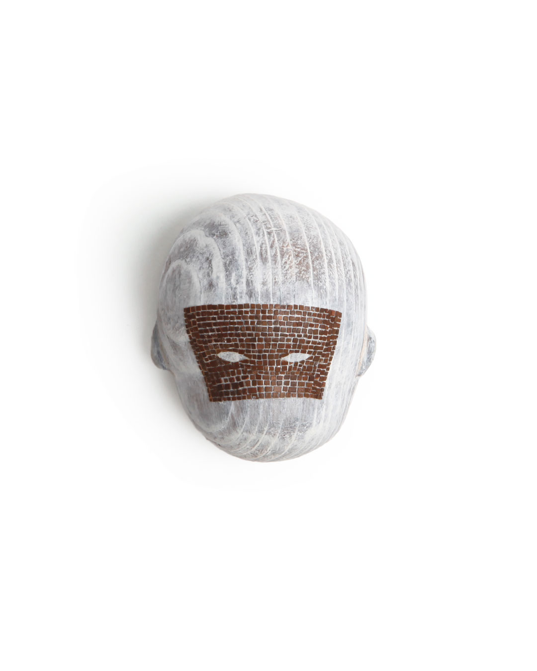 Mari Iwamoto, untitled, 2014, brooch; wood, chestnut, paint, silver, 90 x 90 x 50 mm, €390