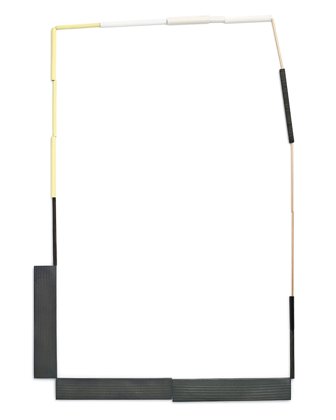 Karin Johansson, New Places, 2011, necklace; gold, oxidised silver, enamel, reconstructed onyx and ivory, L 1100 mm, €1990