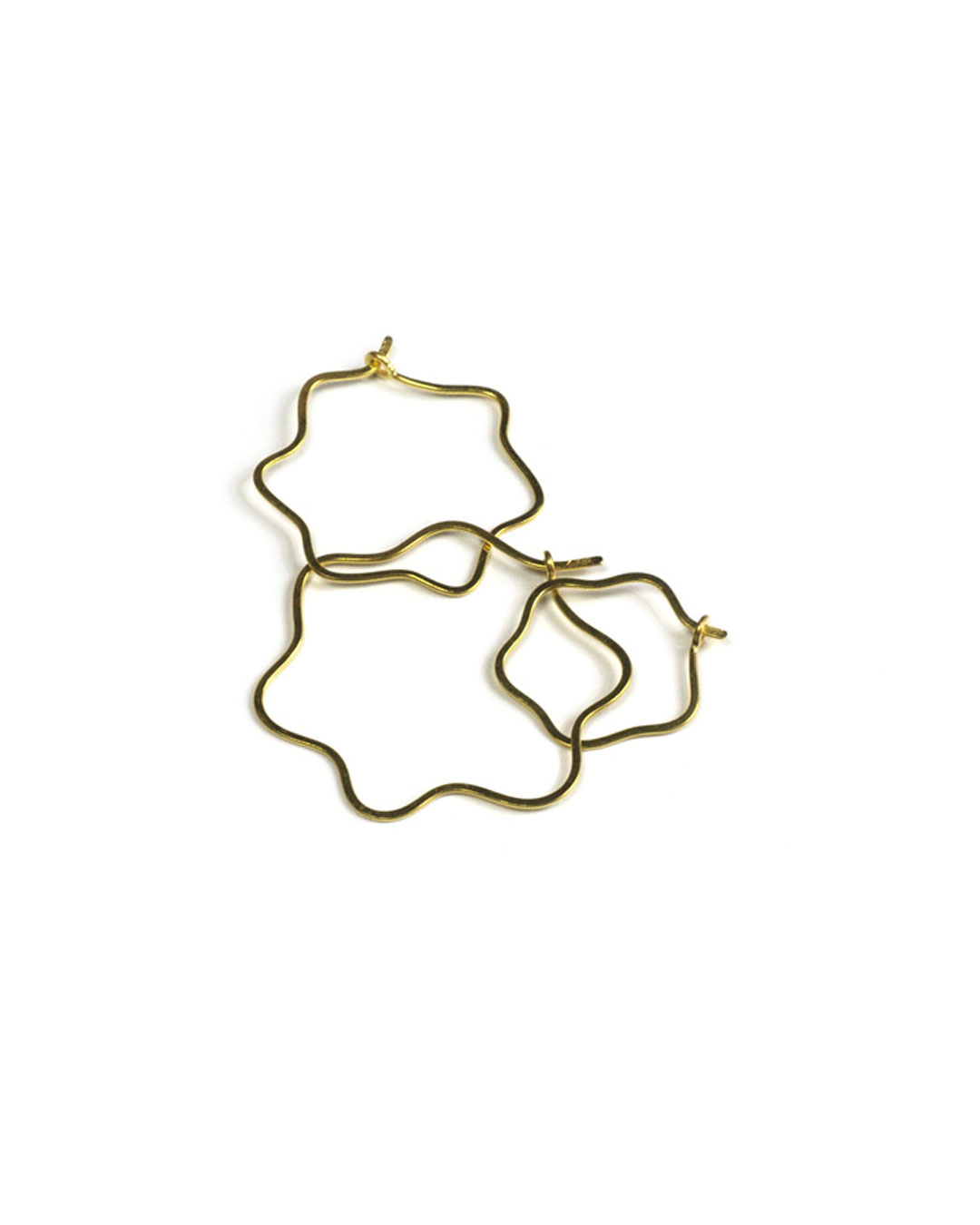 Annelies Planteijdt, untitled, 1987-2018, earrings; 18ct gold, 29 x 30 / 20 x 23 / 10 x 12 mm, €275