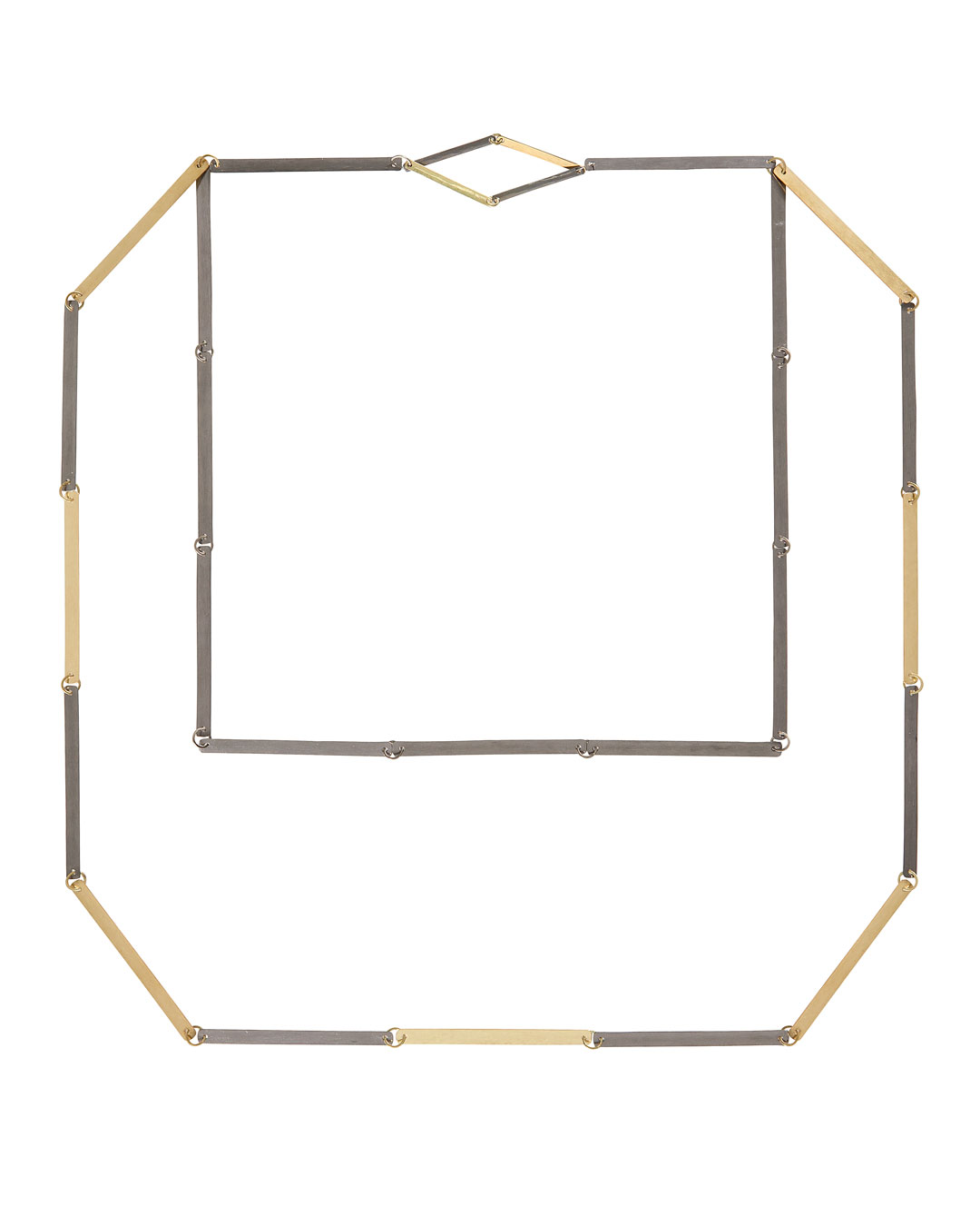 Annelies Planteijdt, Mooie stad – Collier en tegels, 2017, halssieraad; goud, tantalium, 300 x 270 mm, €7450 (afbeelding 1/3)