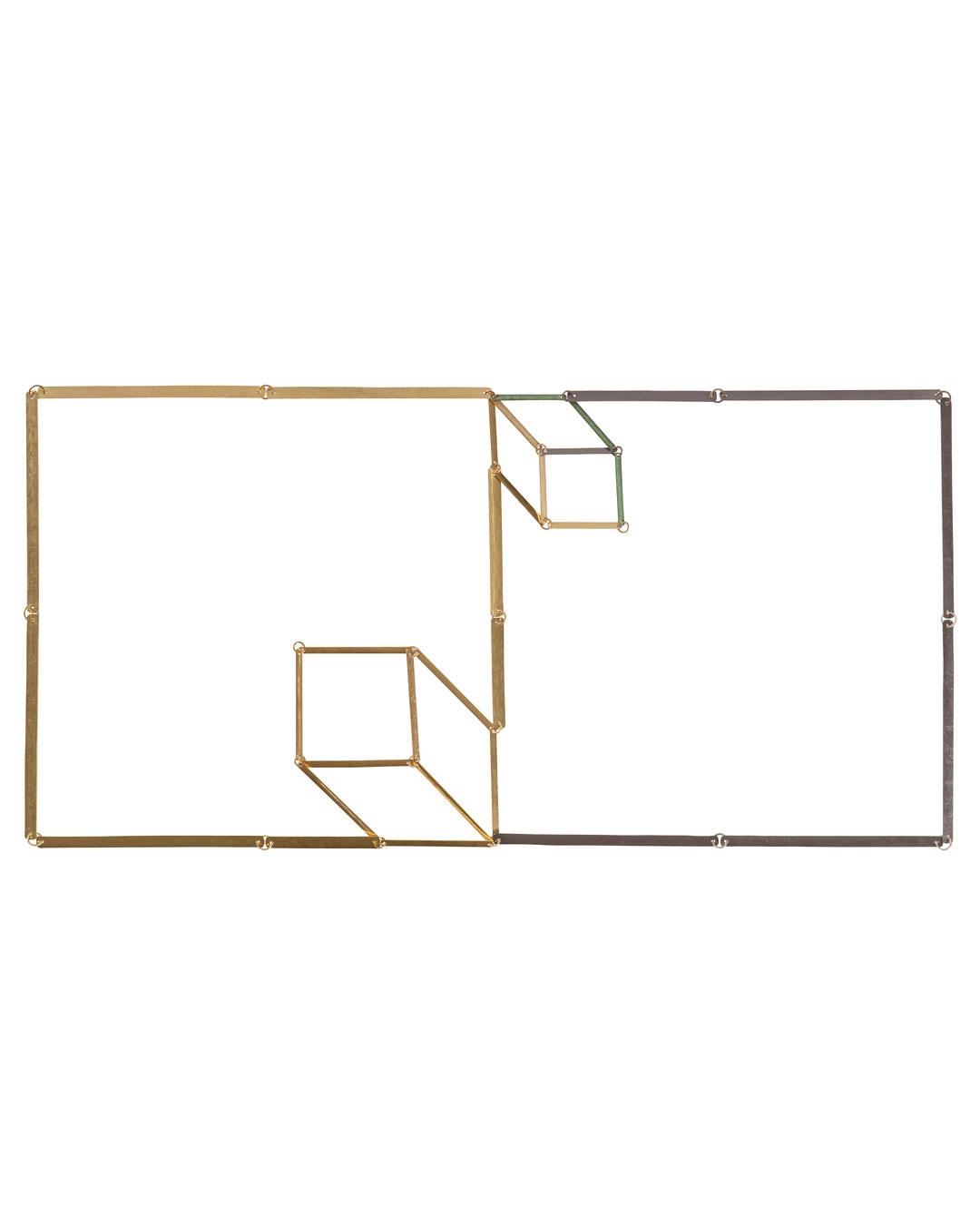 Annelies Planteijdt, Mooie stad – Collier en glaasjes (Mooie Stad - Halssieraad en Glazen), 2017, collier; goud, tantalium, pigment, 180 x 360 mm, €8875 (afbeelding 1/3)