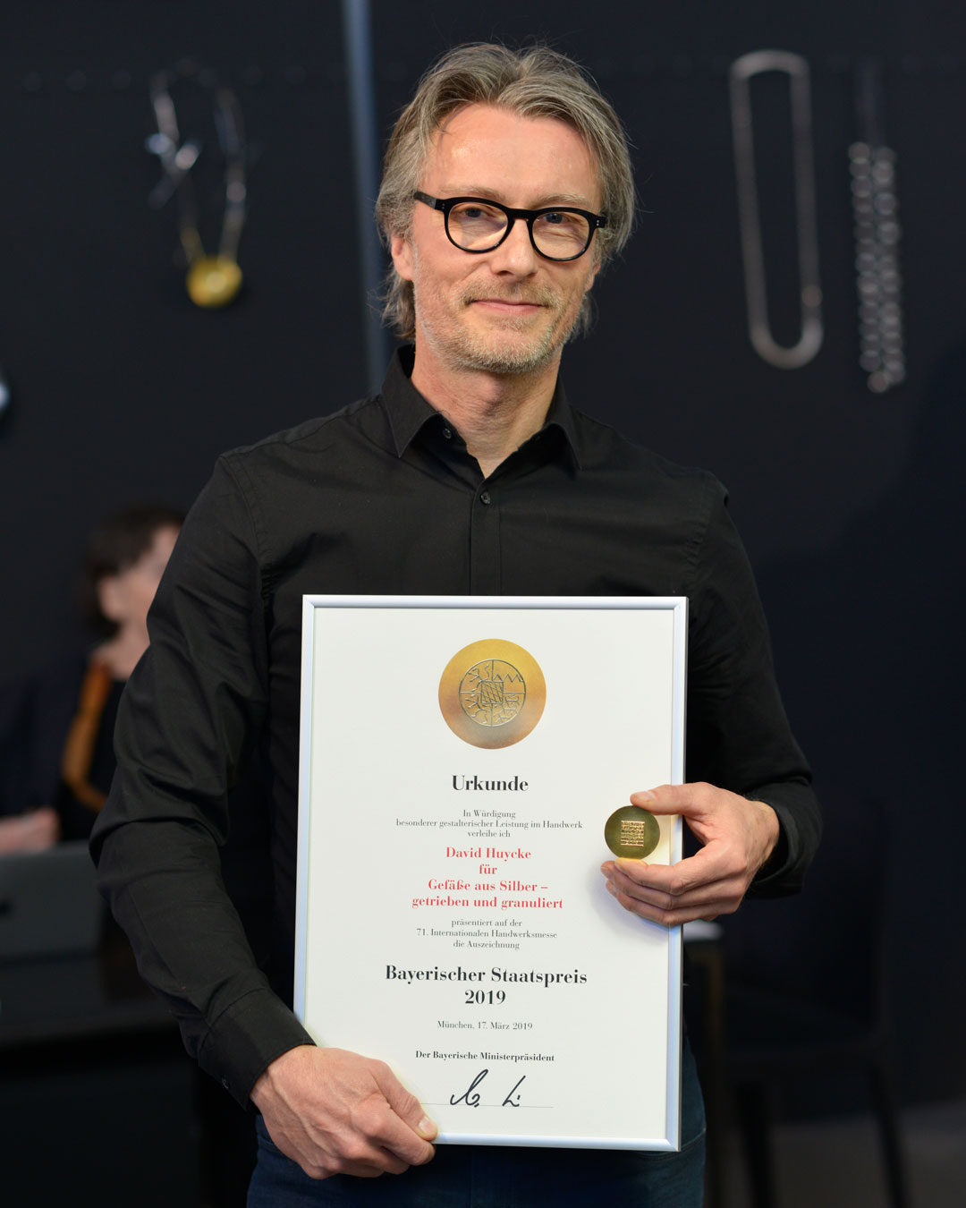 David Huycke wins the Bavarian State Prize in 2019