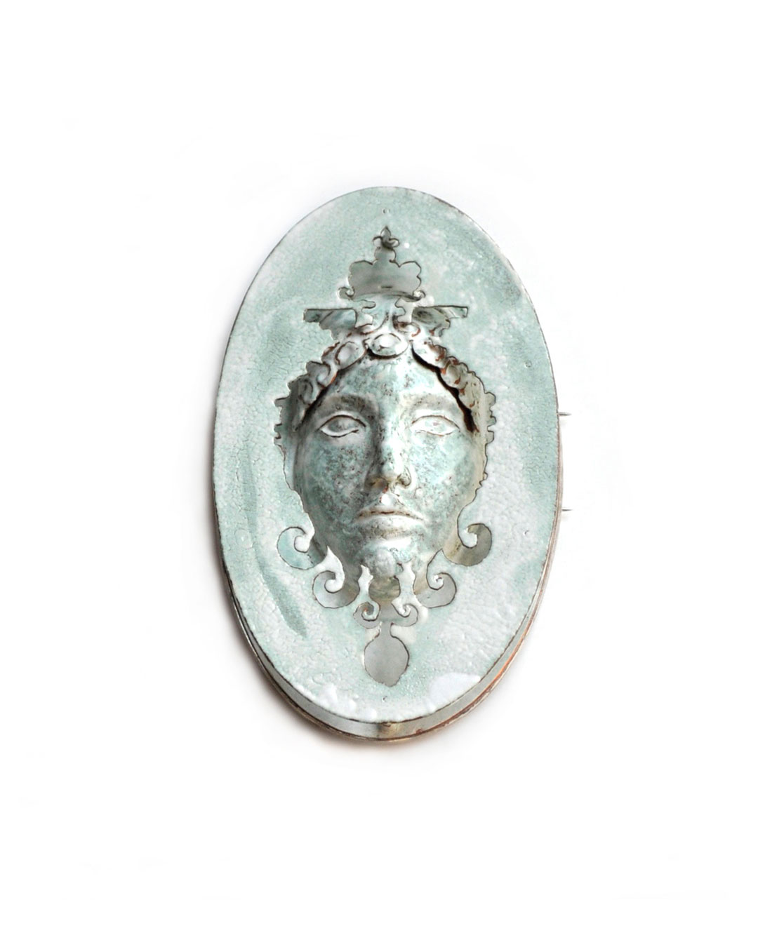 Vera Siemund, untitled, 2008, brooch; copper, silver, enamel, 55 x 95 x 15 mm, €1940