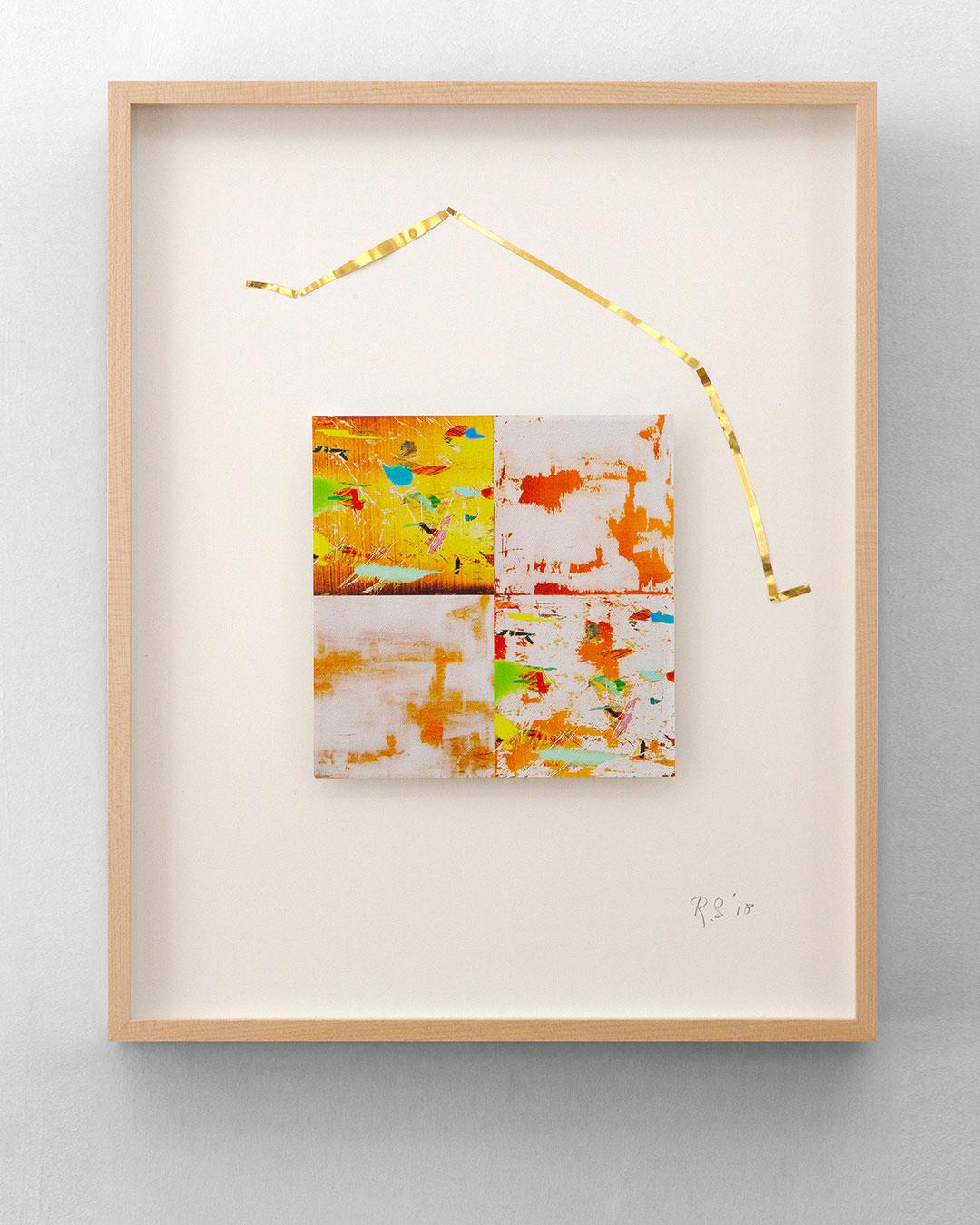 Robert Smit, Framed Sketch for Necklace, 2004-2018, sketch; gold, ink on canvas, 400 x 500 mm, €6000