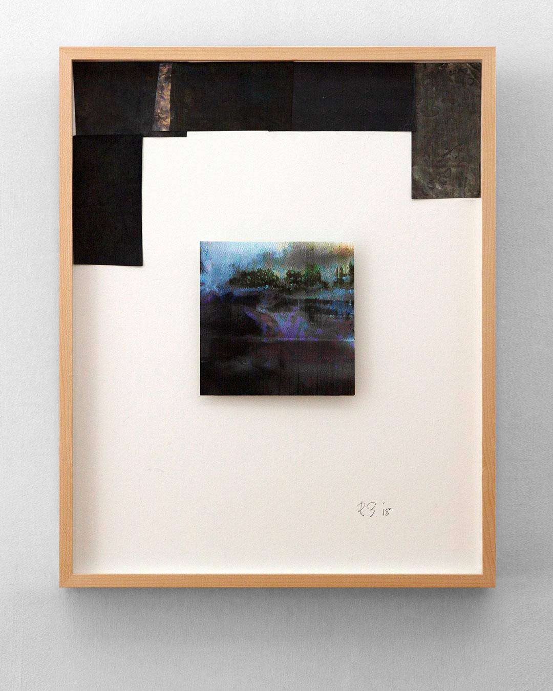 Robert Smit, Framed Sketch for Necklace, 2018, sketch; lead, ink on canvas, 400 x 500 mm, €5400