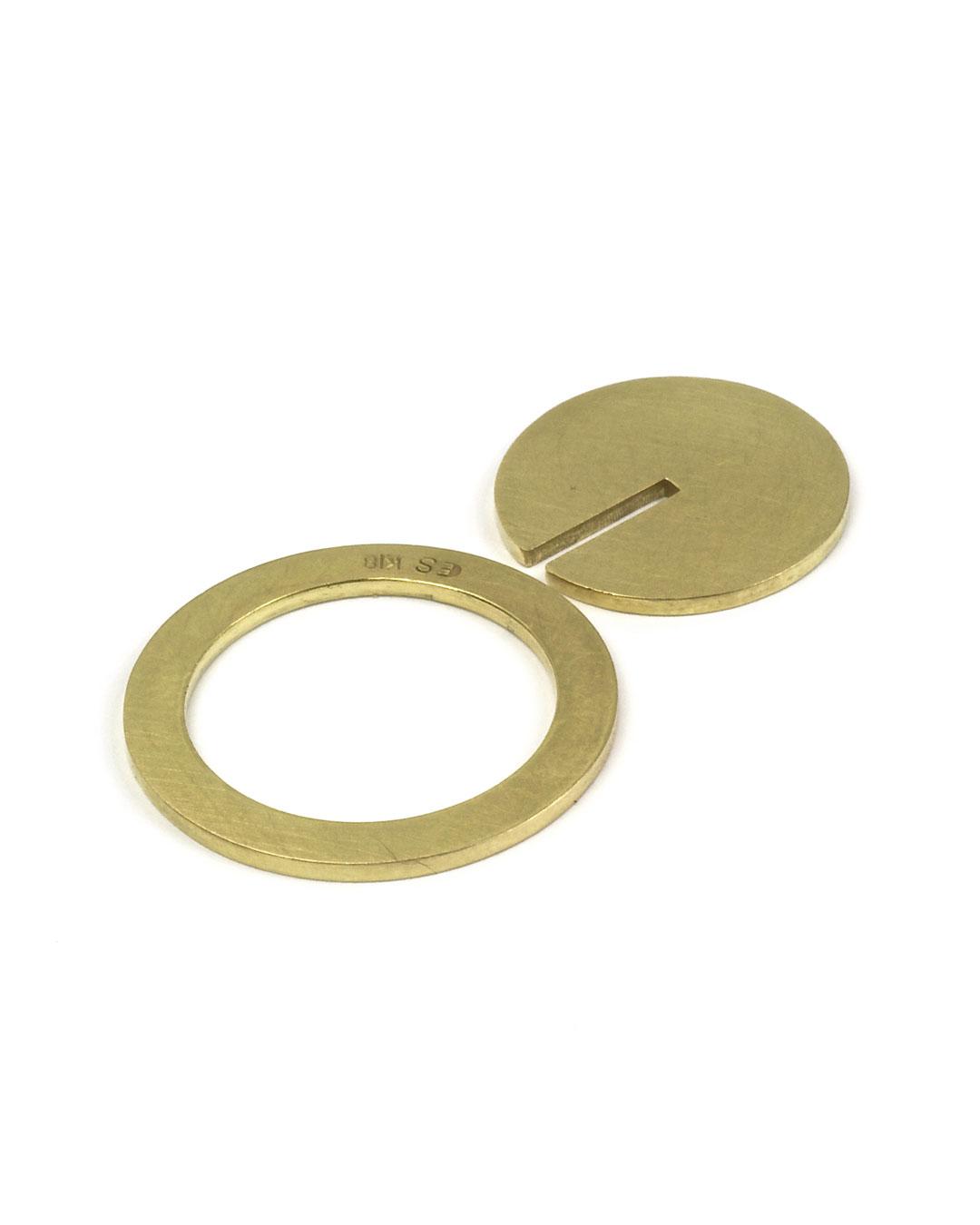 Etsuko Sonobe, untitled, 2002, ring; gold, ø 20 x 1 mm, €2400