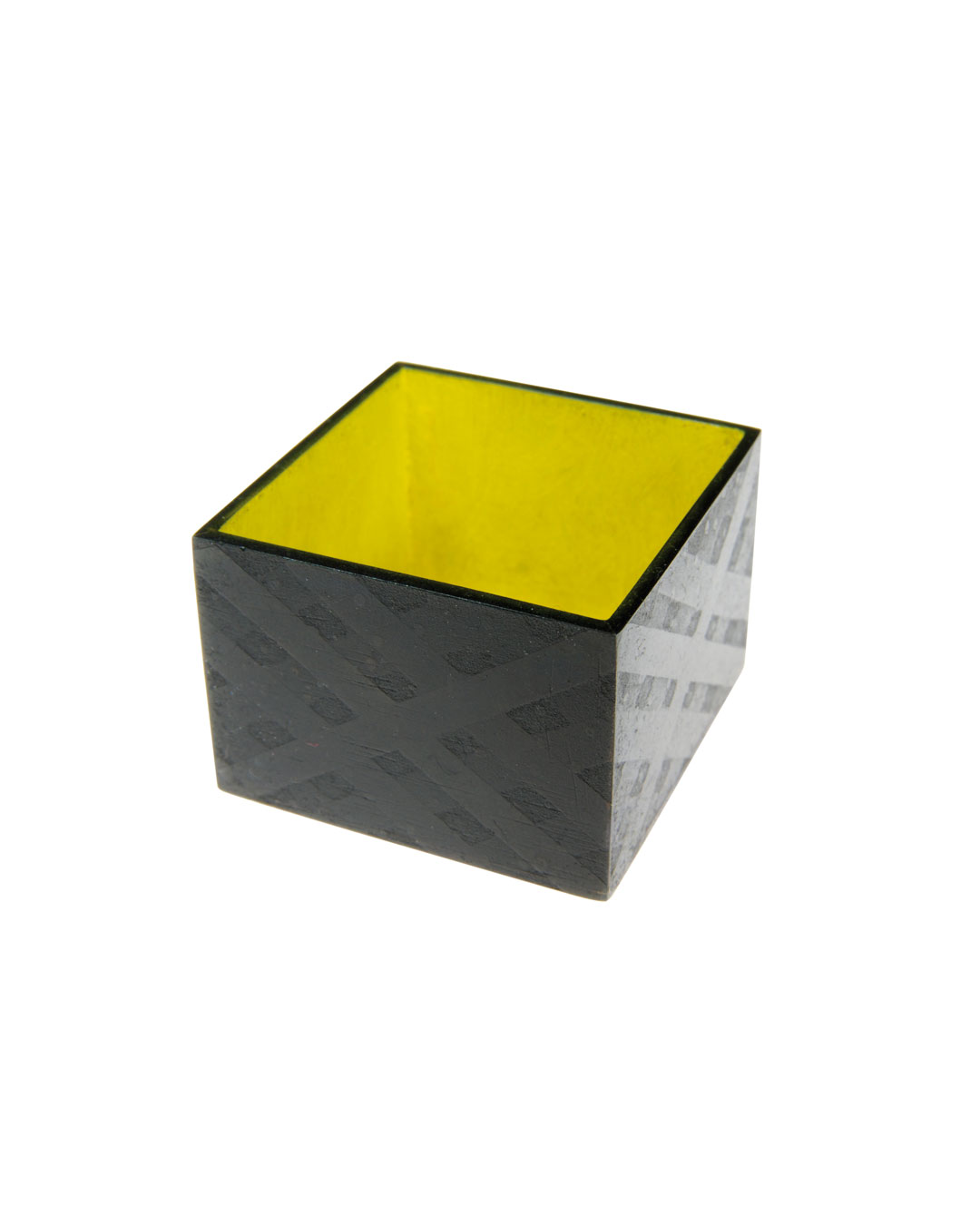 Tore Svensson, Box, 2009, brooch; etched and painted steel, 30 x 30 x 20 mm, €560