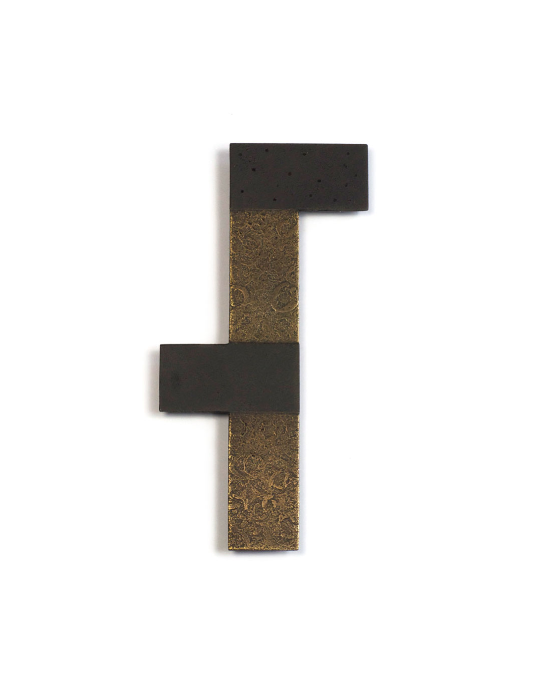 Tore Svensson, 18 Square Centimetres, 2006, brooch; steel, partly gilt, partly silver-plated, 90 x 50 x 1.5 mm, €315