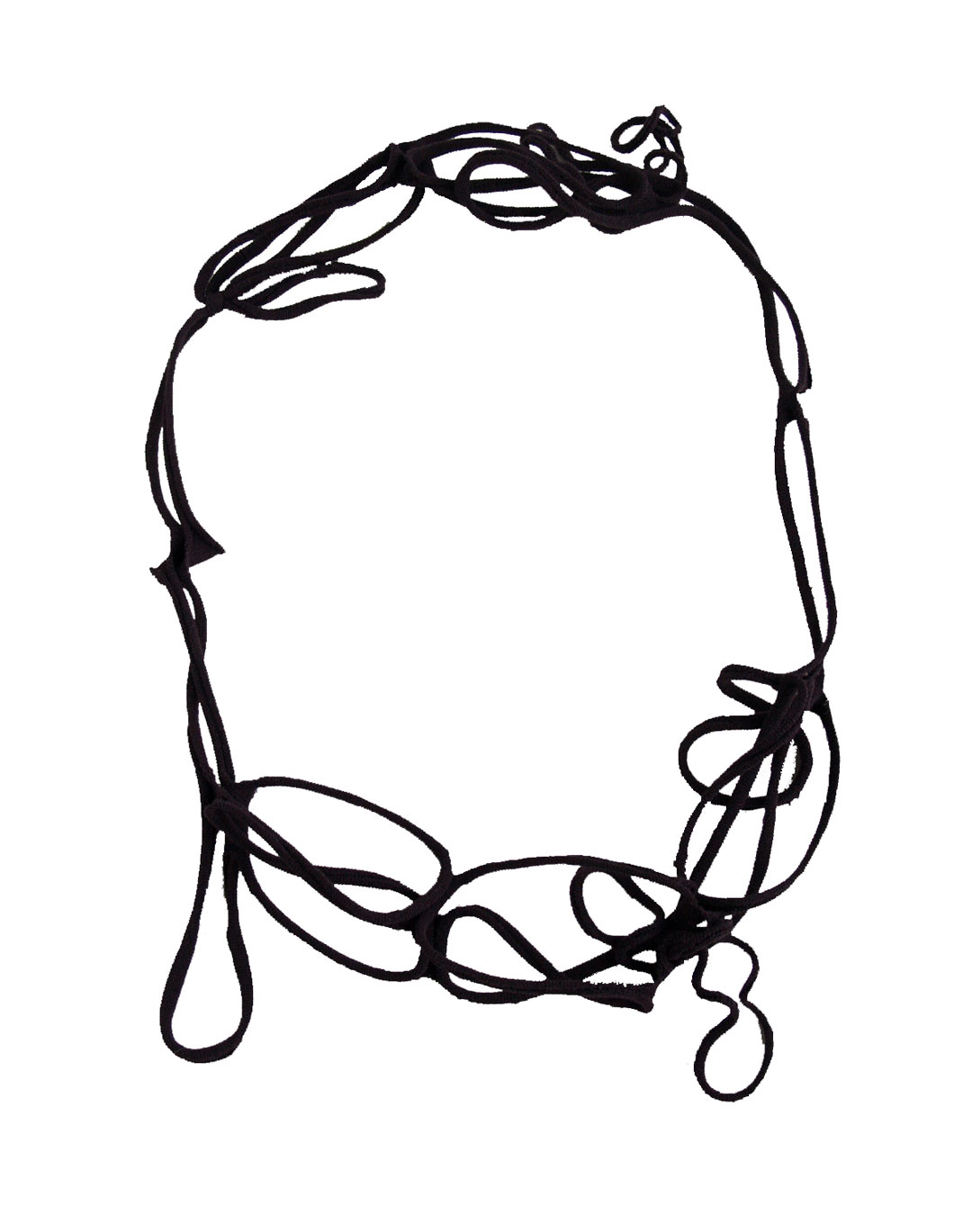 Mirei Takeuchi, untitled, 2008, necklace; nylon stockings, 470 x 37 x 6 mm, €185