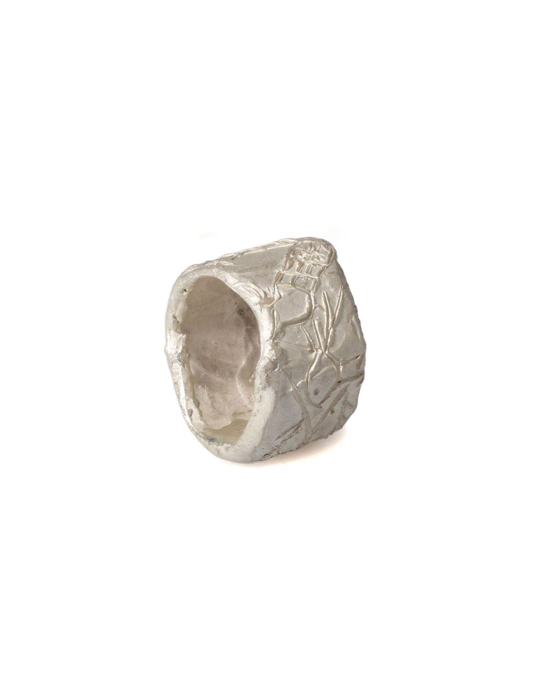 Juliane Brandes, zonder titel, 2014, ring; zilver, 24 x 15 mm, €730