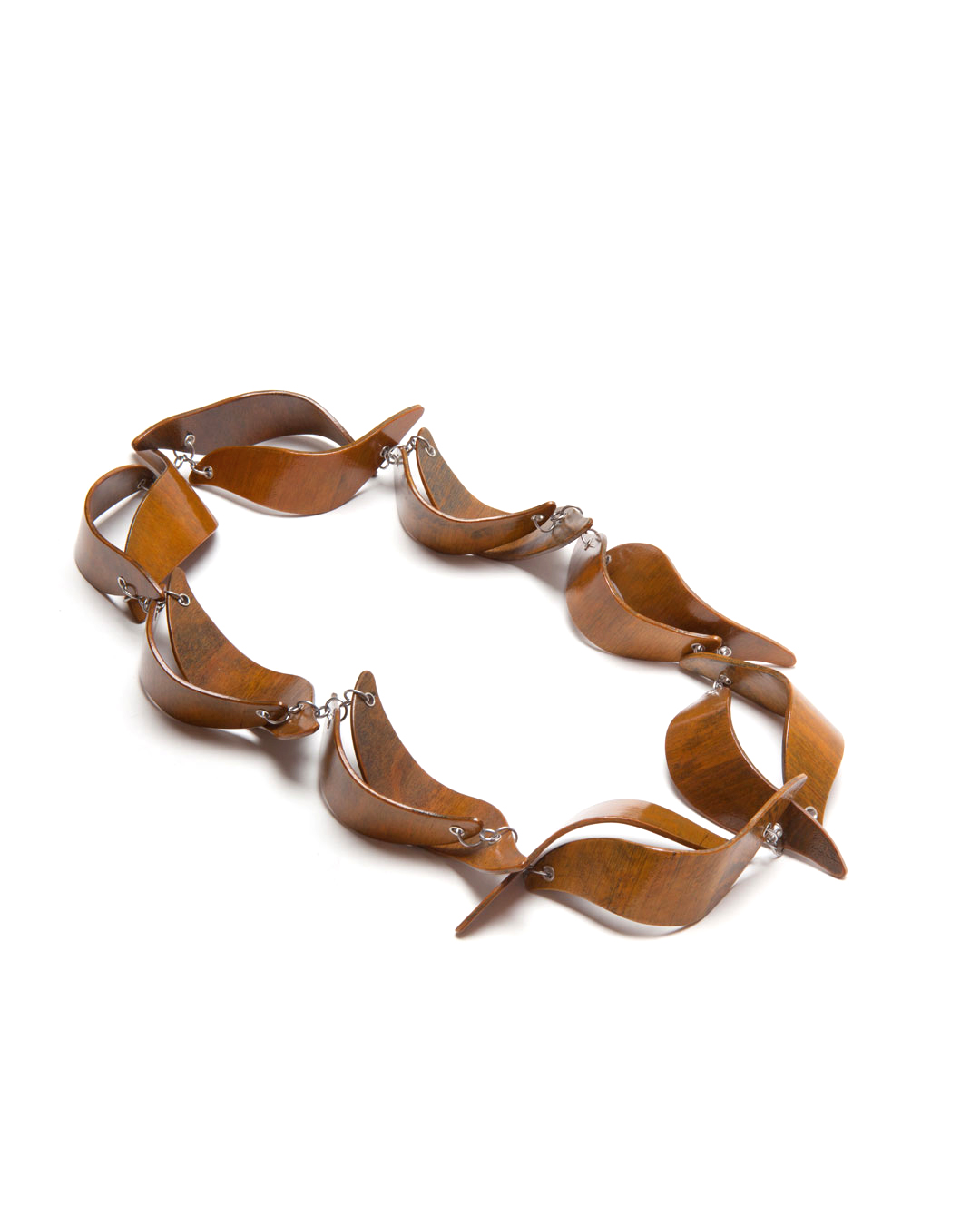 Antje Bräuer, Baroque Waves I , 2014, necklace; plywood, silver, steel, 450 x 300 x 42 mm, €2180