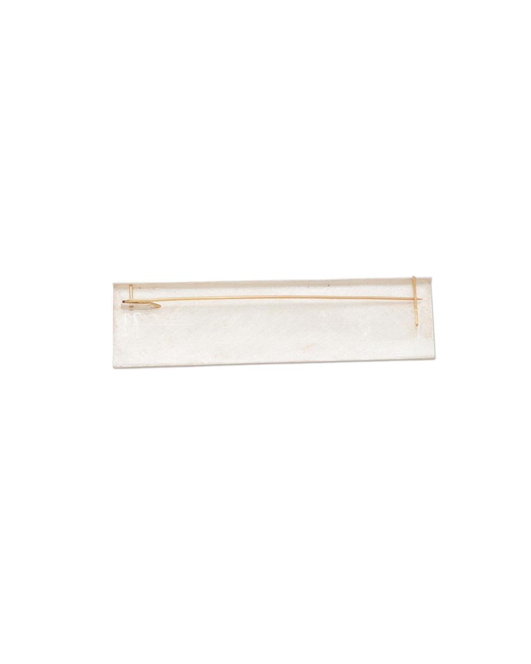 Noam Elyashiv, Reduce, 2017, brooch; reclaimed silver, 18ct gold, 50 x 22 x 6 mm, €1350