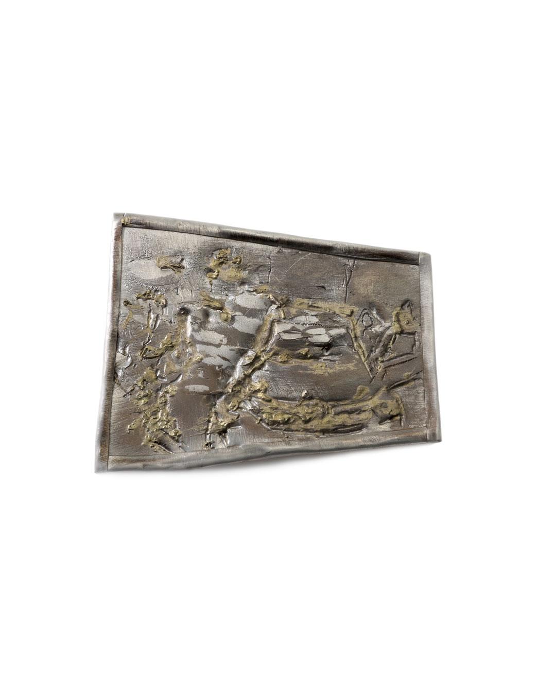 Rudolf Kocéa, Präsentation (Presentatie), 2016, broche; zilver, koper, goud, 107 x 130 mm, €2200