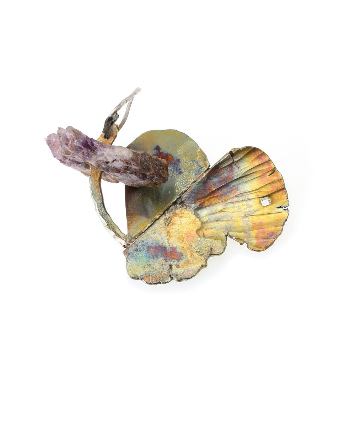 Rudolf Kocéa, Tit, 2017, pendant; silver, copper, rock, 90 x 70 x 30 mm, €1300