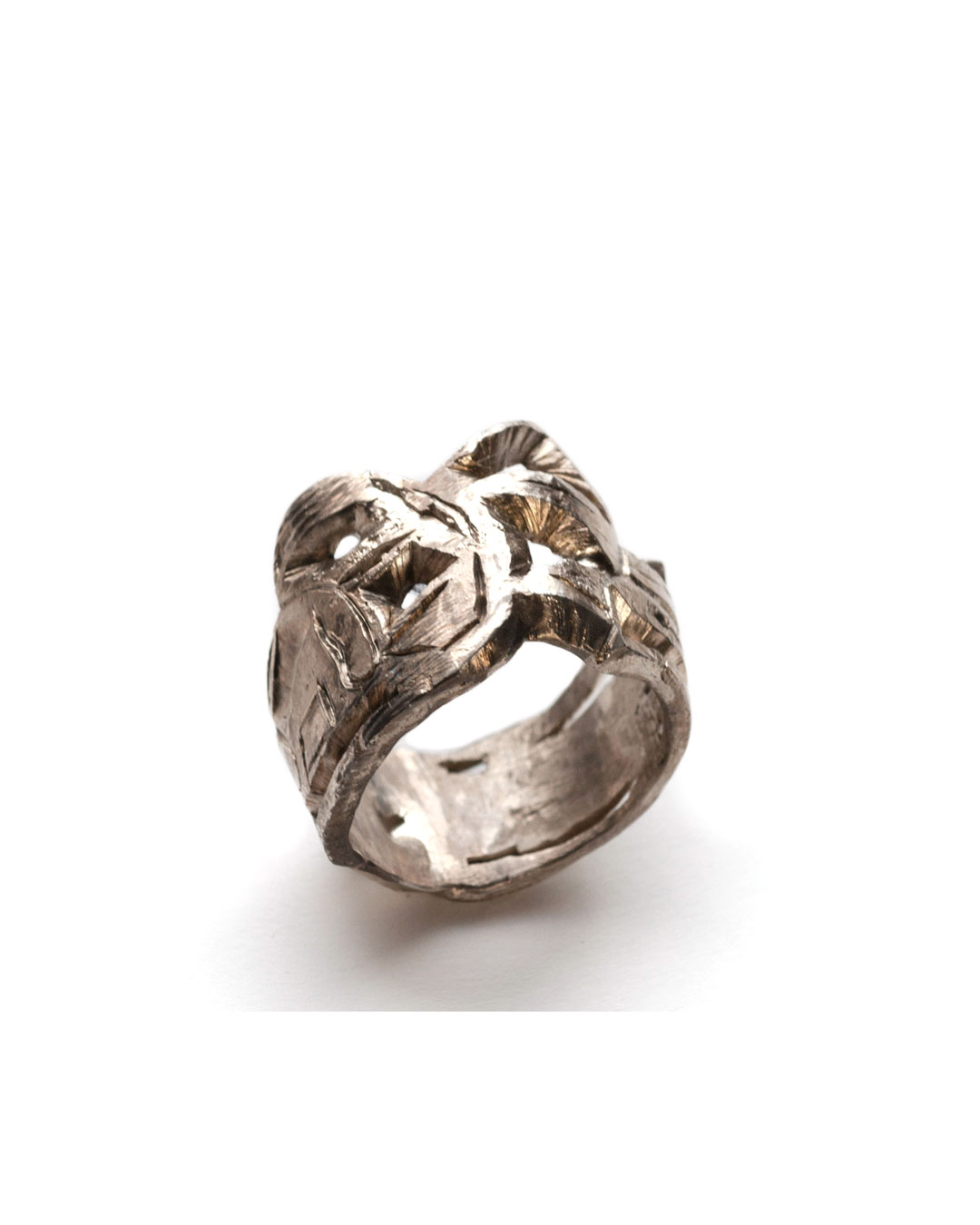 Rudolf Kocéa, untitled, 2007, ring; silver, 24 x 23 x 11 mm, €655