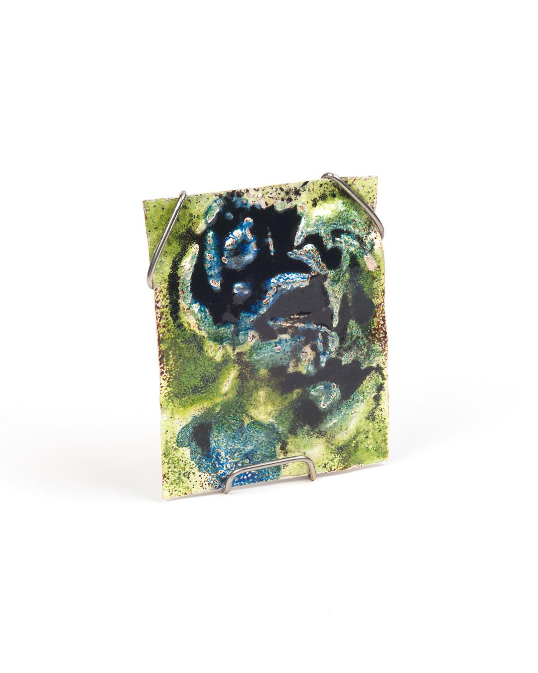 Rudolf Kocéa, Favourite, 2019, brooch; fine silver, enamel, stainless steel, 60 x 80 x 15 mm, €1600