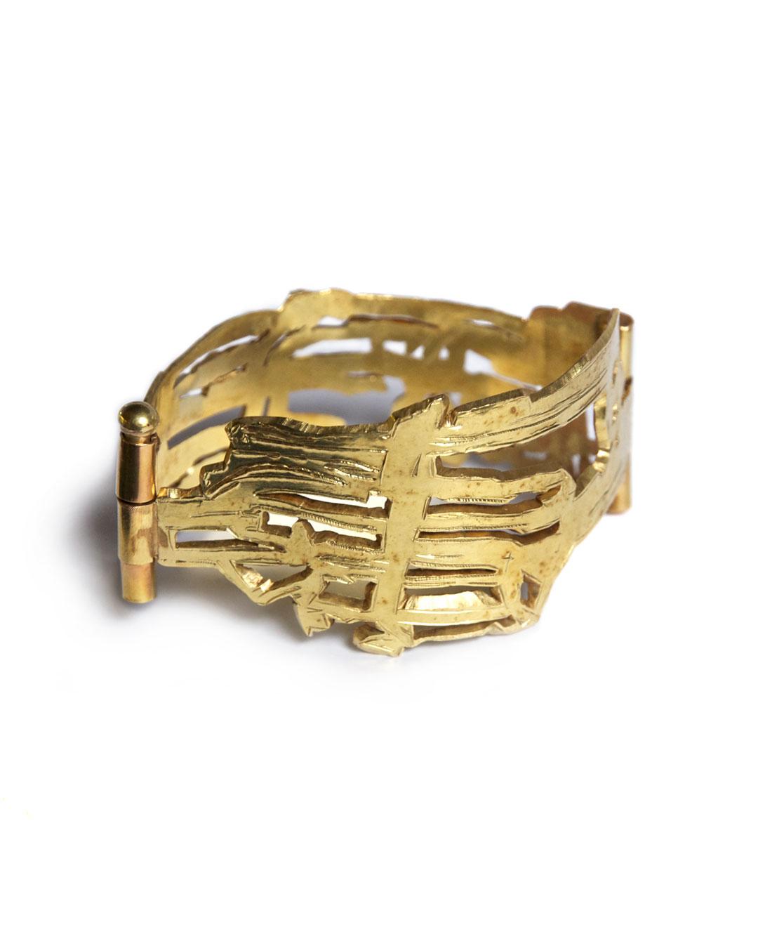 Rudolf Kocéa, Bündel (Bundels), 2004, armband; 14 kt goud, 40 x 78 x 54 mm, €9500