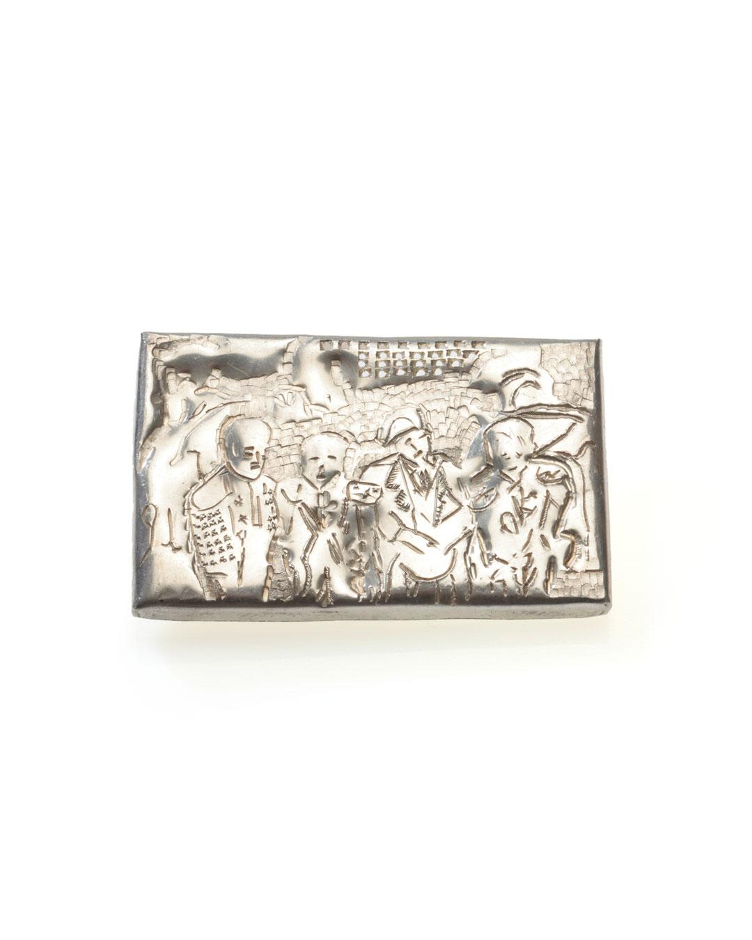 Rudolf Kocéa, Tenöre (Tenoren), 2012, broche; zilver, 50 x 80 x 6 mm, €1050