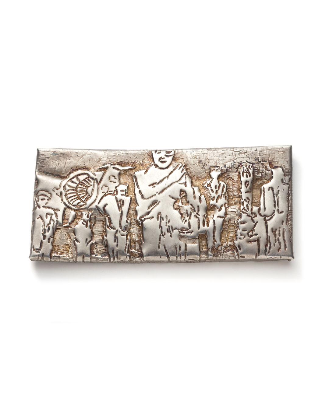 Rudolf Kocéa, Besuch (Bezoek), 2010, broche; zilver, 60 x 130 x 8 mm, €1460