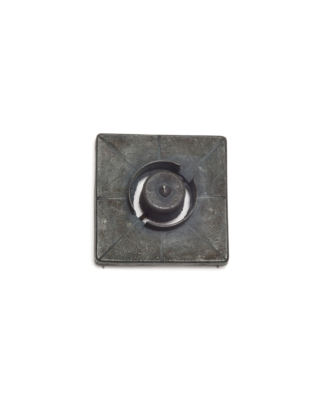 Winfried Krüger, untitled, 2007, brooch; oxidised silver, 60 x 60 x 25 mm, €970