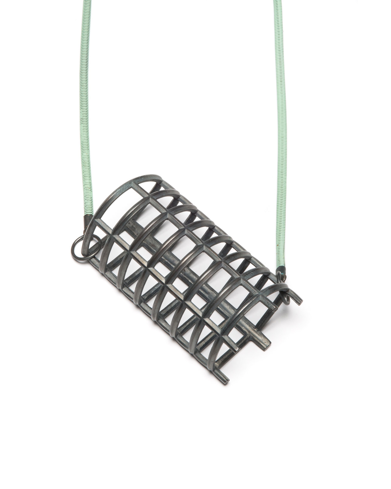 Winfried Krüger, untitled, 2008, pendant; oxidised silver, 110 x 65 mm, €2300