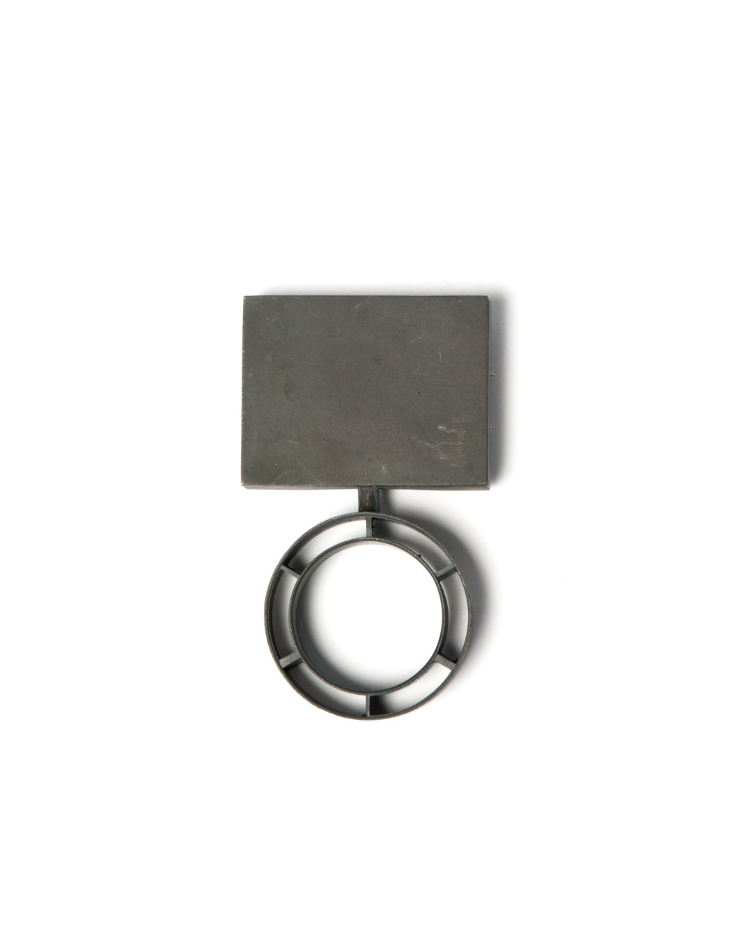 Winfried Krüger, untitled, 2010, brooch; oxidised silver, 80 x 45 mm, €1940