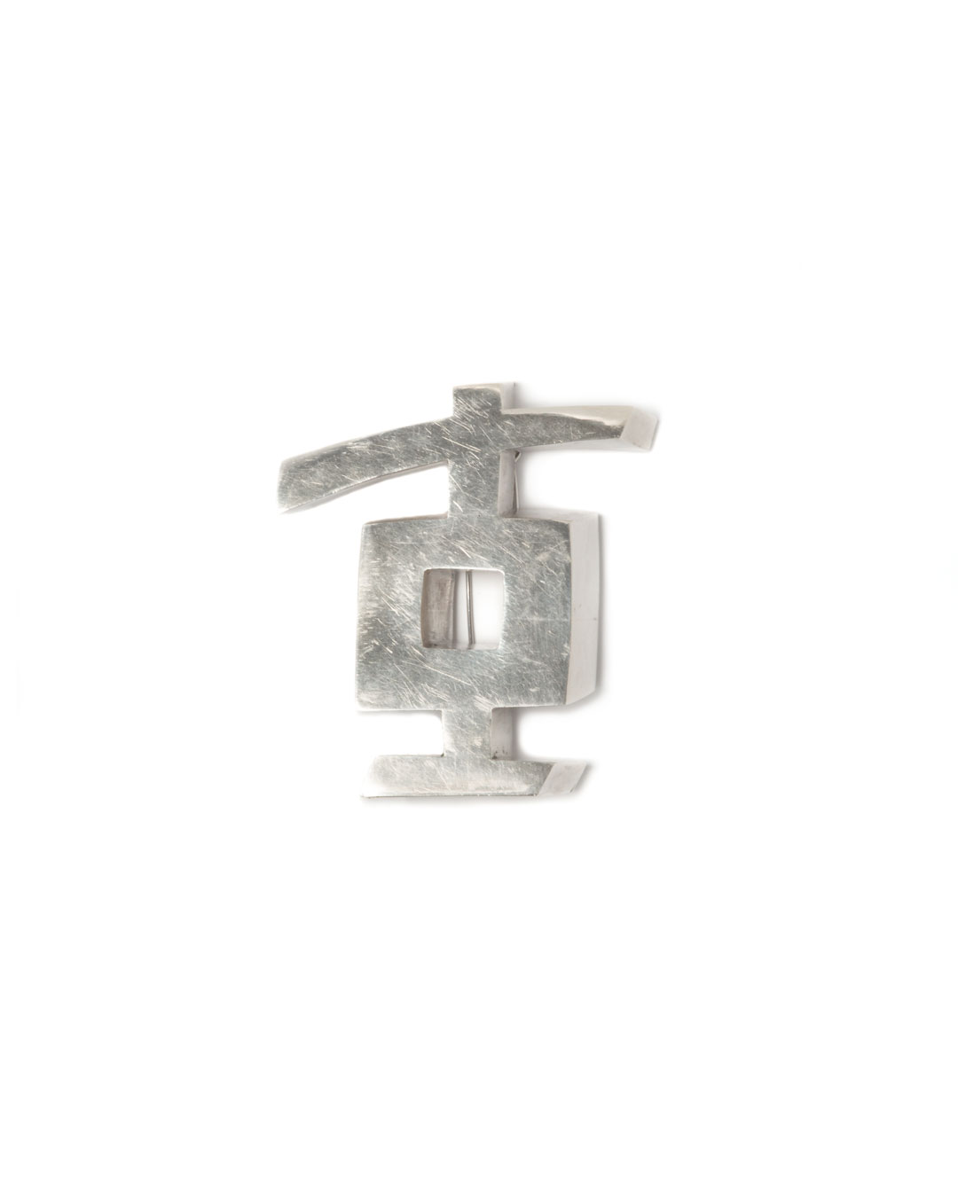 Winfried Krüger, untitled, 1986, brooch; silver, 80 x 60 mm, €1455