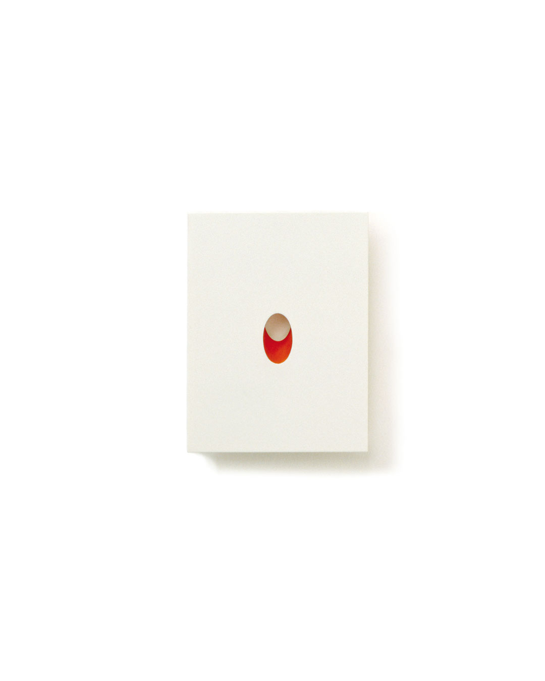 Otto Künzli, Rotes Loch (Red Hole), 2006, brooch; silver, acrylic paint, stainless steel, 60 x 45 x 5 mm (edition 3), €5100
