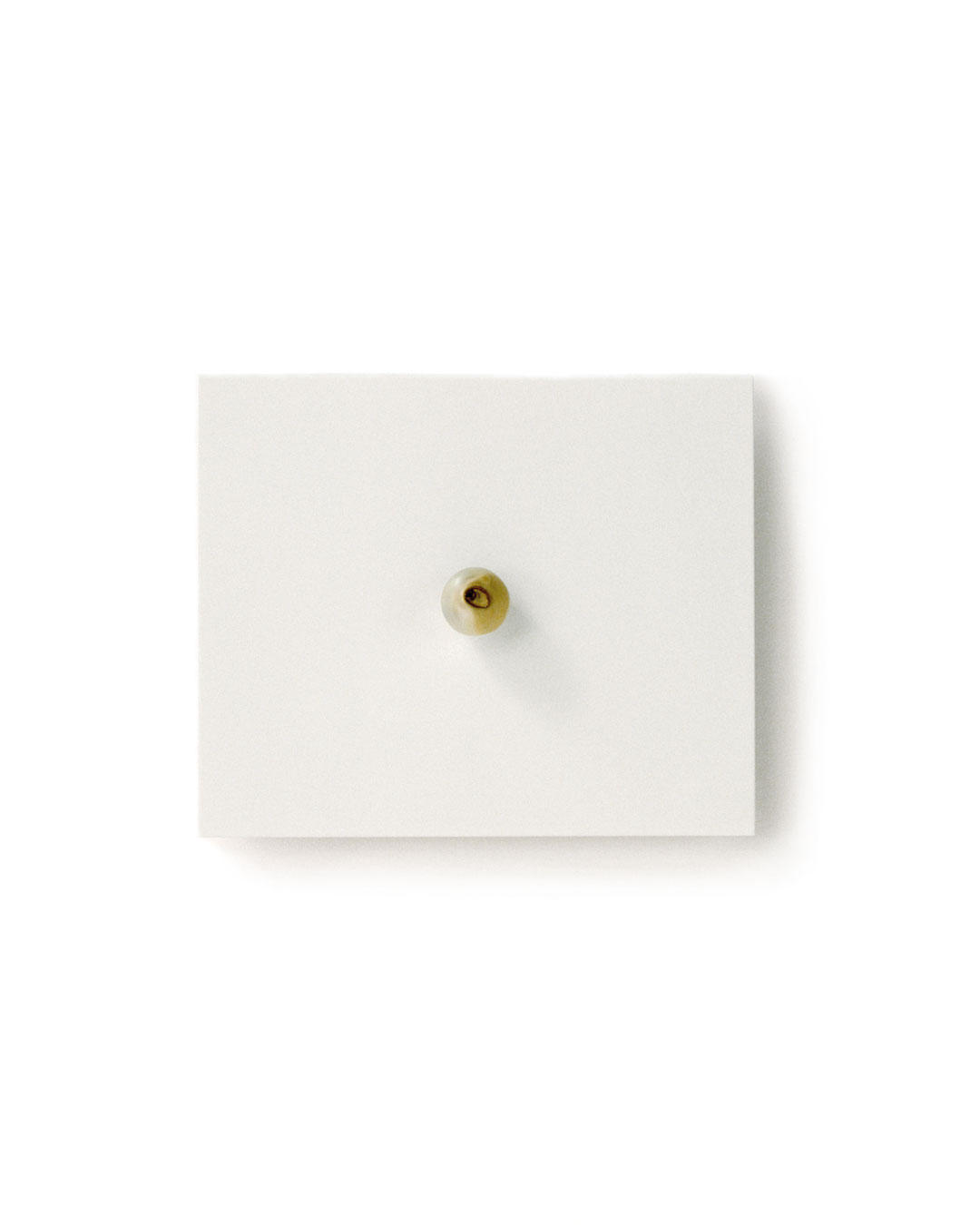 Otto Künzli, Ago Bay, 2009, brooch; pearl, silver, acrylic paint, stainless steel, 77 x 64 x 17 mm (edition 1), €5100