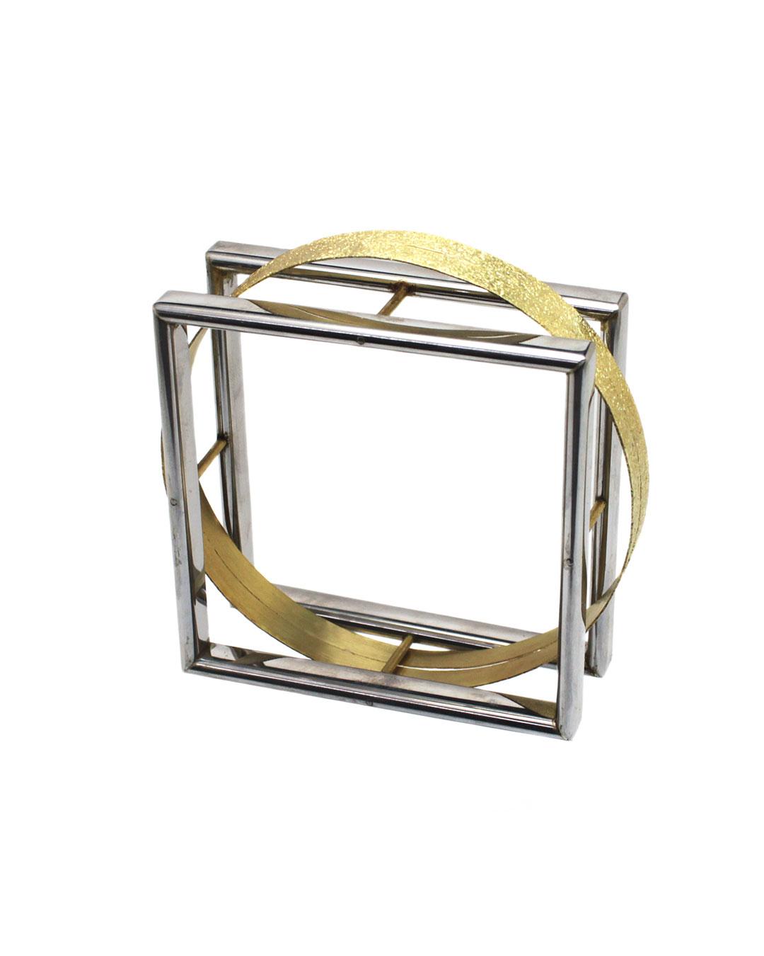 Okinari Kurokawa, untitled, 2014, bracelet, 20ct gold, stainless steel, 75 x 75 x 26 mm