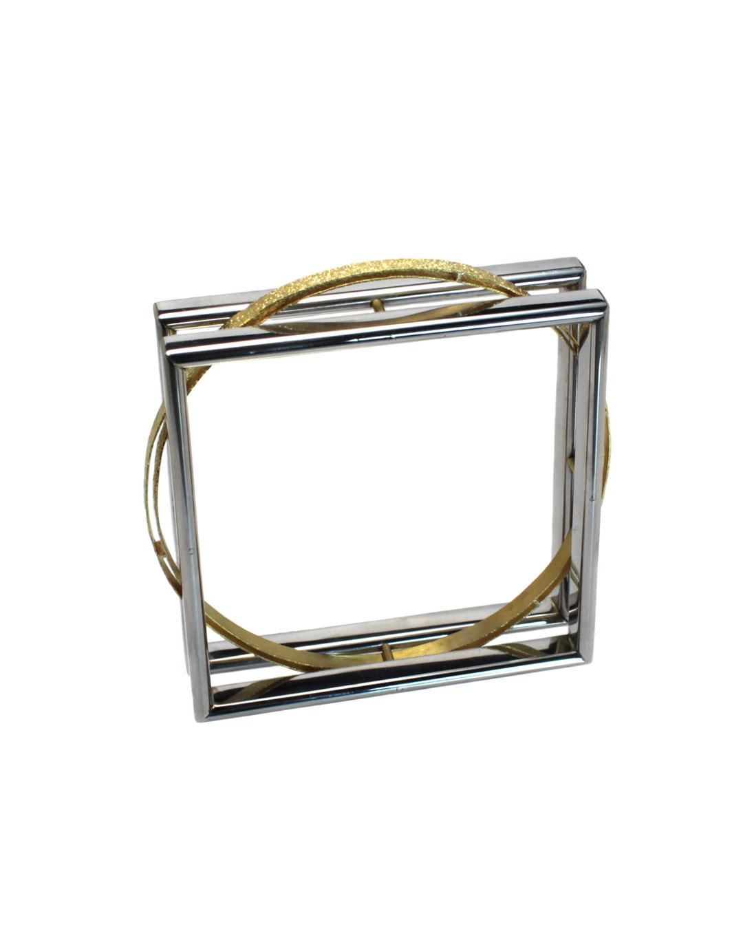 Okinari Kurokawa, untitled, 2014, bracelet, 20ct gold, stainless steel, 76 x 76 x 20 mm