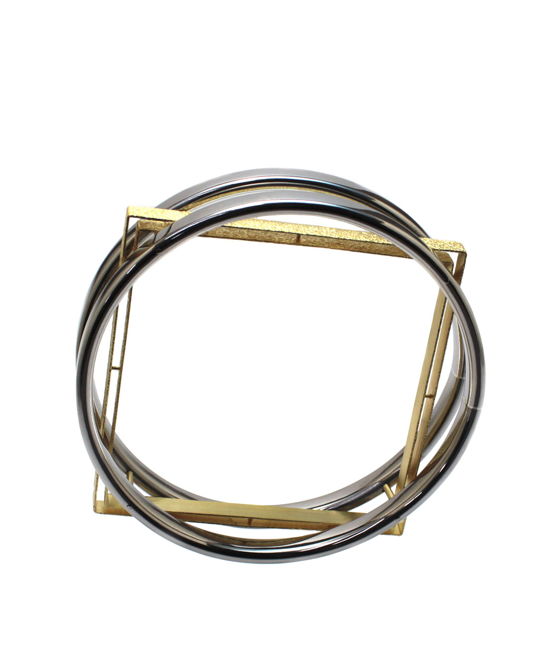 Okinari Kurokawa, untitled, 2014, bracelet; 20ct gold, stainless steel, 83 x 83 x 20 mm