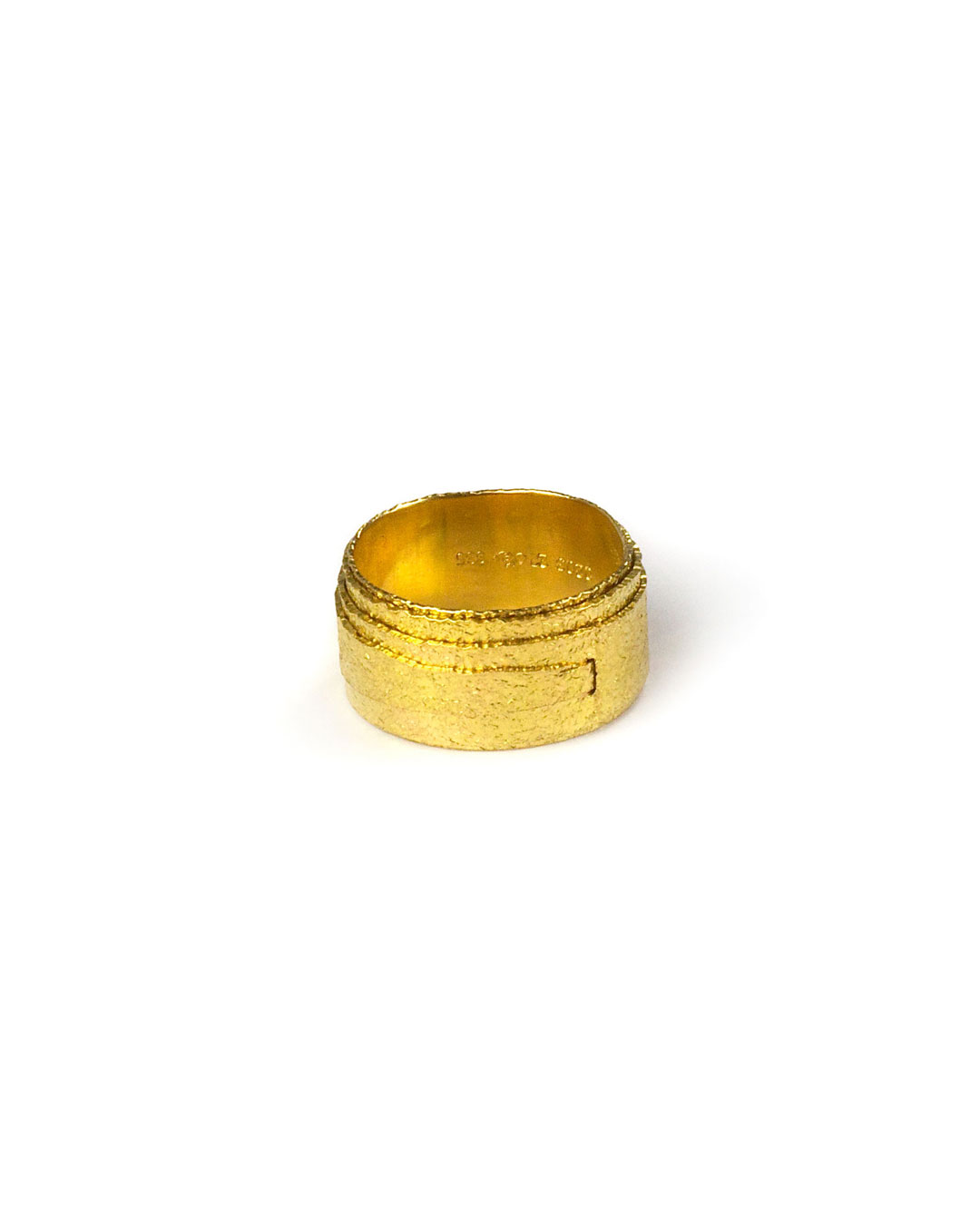 Okinari Kurokawa, untitled, 1997, ring; 20ct gold, ø 20 x 10 mm