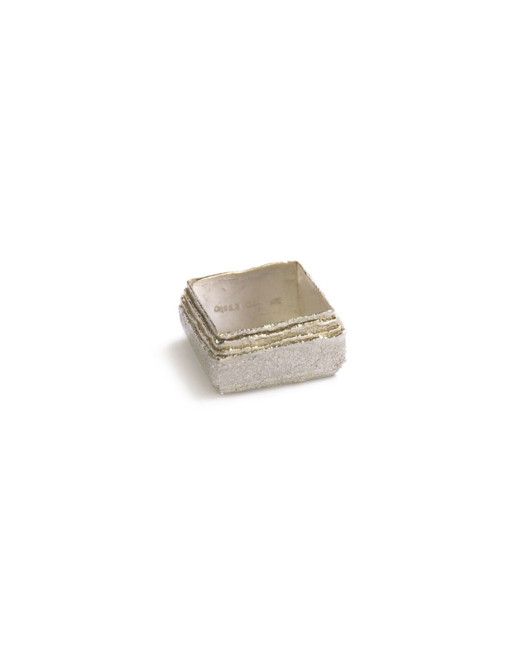 Okinari Kurokawa, untitled, 2006, ring; 970 silver, 22 x 22 x 12 mm