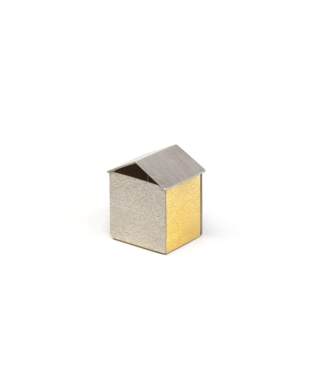 Okinari Kurokawa, untitled, 2008, ring; 970 silver, 835 gold, 24 x 21 x 17 mm