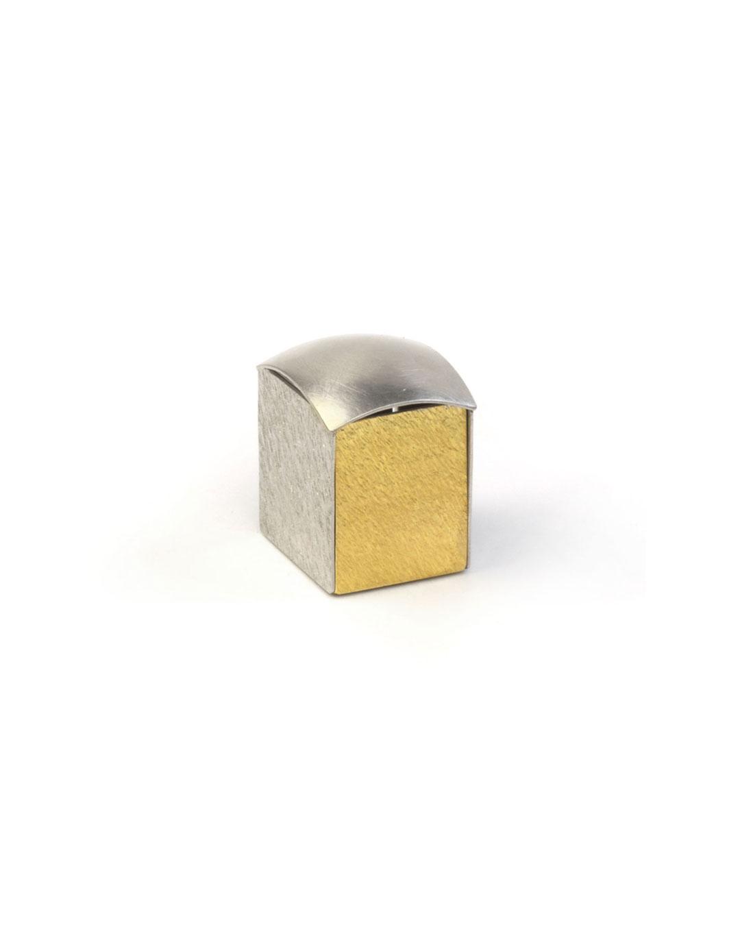 Okinari Kurokawa, untitled, 2008, ring; 970 silver, 835 gold, 23 x 20 x 17 mm