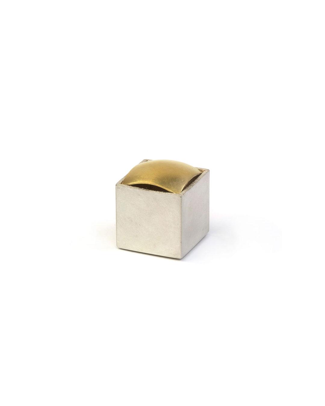 Okinari Kurokawa, untitled, 2008, ring; 970 silver, 835 gold, 24 x 20 x 20 mm, €1700