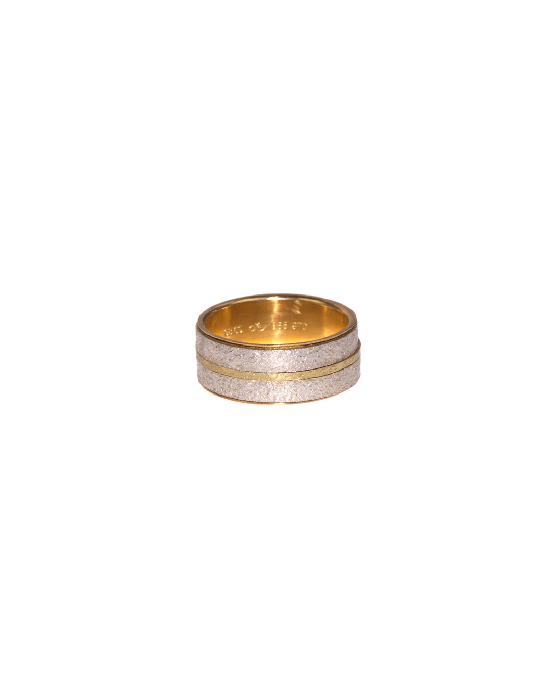 Okinari Kurokawa, untitled, 2008, ring; 20ct gold, 970 silver, 20 x 8 mm