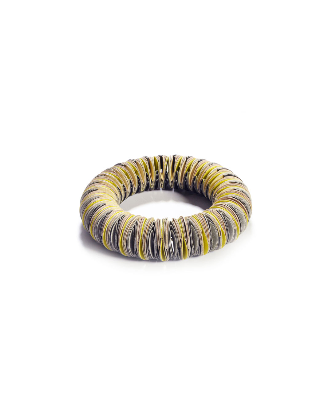 Nel Linssen, untitled, 2013, bracelet; paper, 90 x 90 x 20 mm, €760