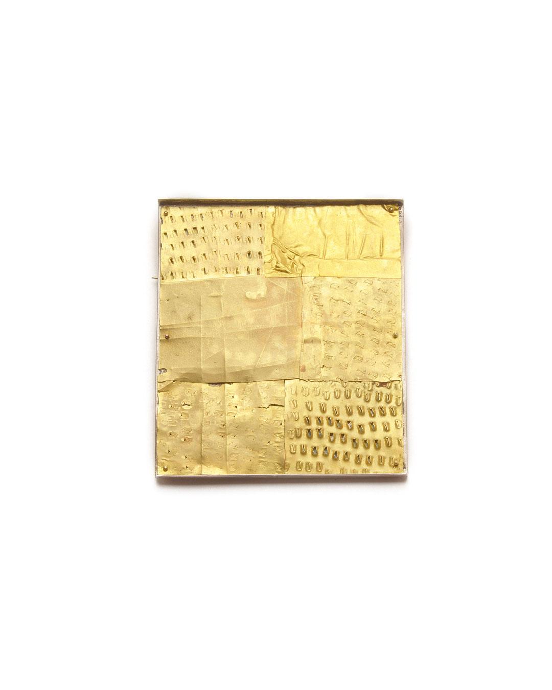 Stefano Marchetti, untitled, 2005, brooch; gold, silver, 63 x 54 x 6 mm, €6100