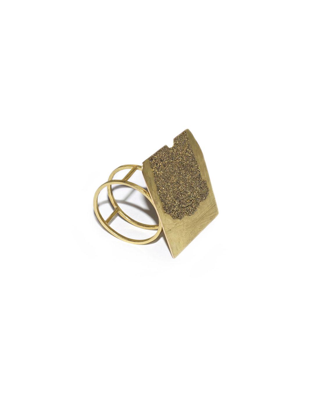 Stefano Marchetti, untitled, 2008, ring; gold, gold epoxy, 40 x 30 x 30 mm, €3000