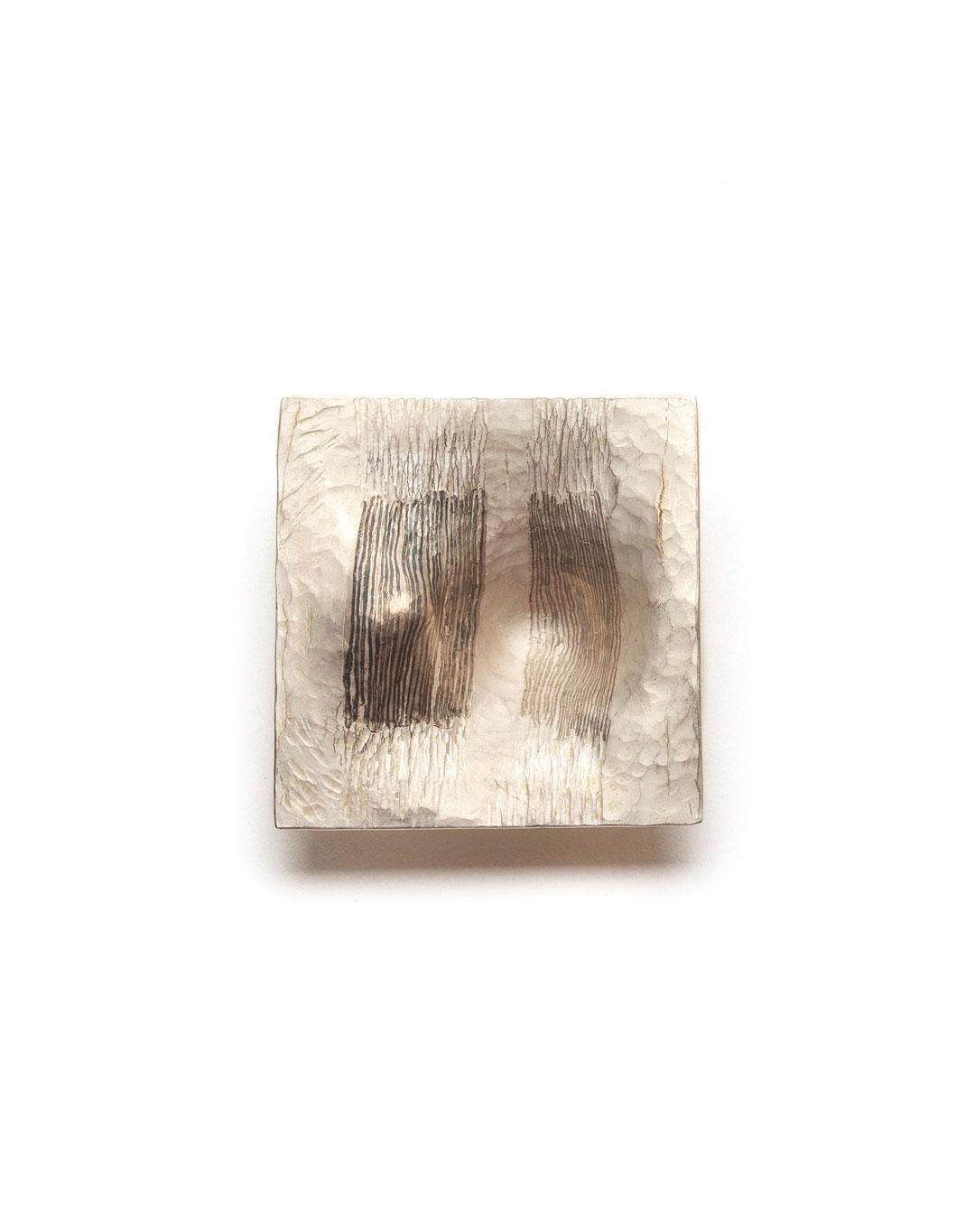 Stefano Marchetti, untitled, 2017, brooch; silver, shibuichi, palladium, 46 x 46 x 20 mm, €8500