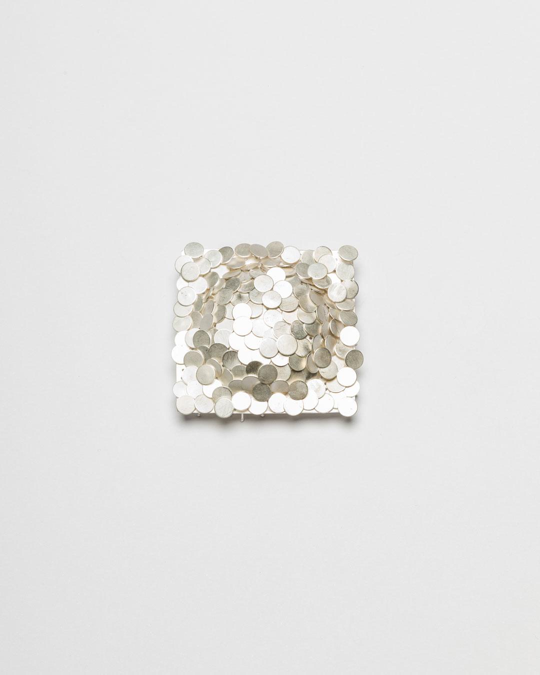 Christine Matthias, untitled, 2018, brooch; silver, 62 x 62 x 22 mm, €1825