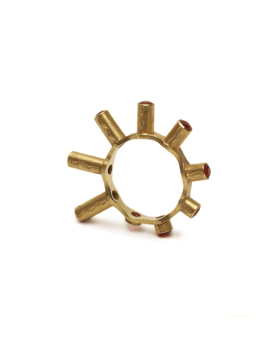 Julie Mollenhauer, untitled, 1993, ring; gold, fire opal, ø 30 x 4 mm, €1150