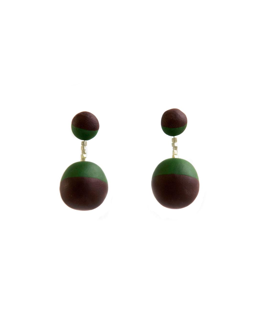 Julie Mollenhauer, untitled, 2011, earrings; Fimo, diamond, silver, plastic, 30 x 15 x 15 mm, €330