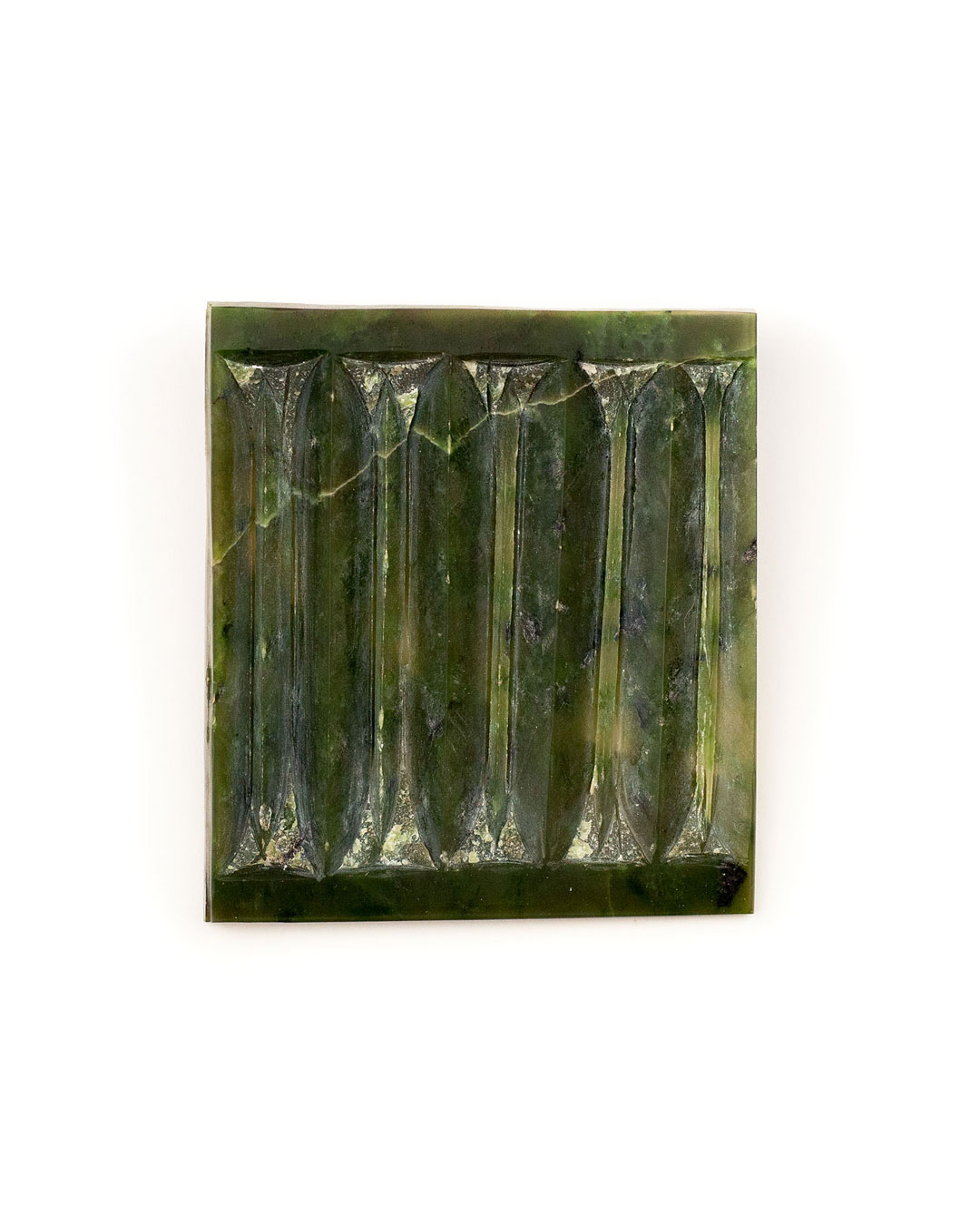 Pavel Opočenský, untitled, 2000, brooch; nefrite, 75 x 62 x 18 mm, €1265