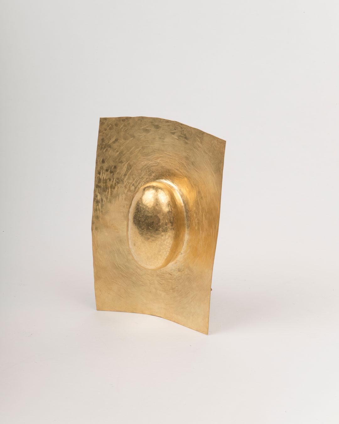 Francesco Pavan, untitled, 2018/2019, brooch; gold, 115 x 85 x 35 mm, price on request